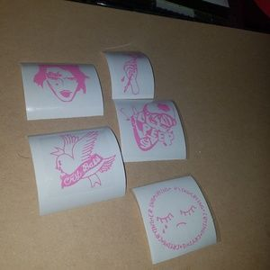 Pink LIL PEEP DECAL LOT! 4""
